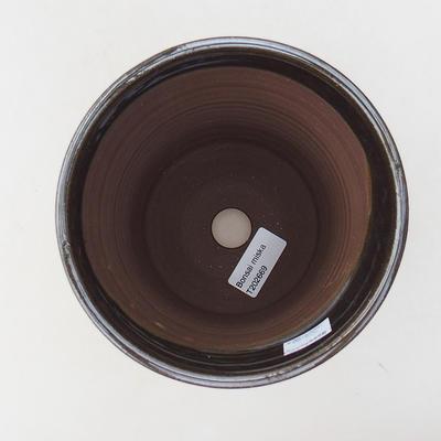 Keramische Bonsai-Schale 14 x 14 x 16,5 cm, Metallfarbe - 3