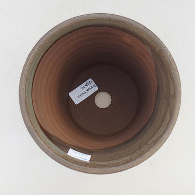 Keramik Bonsai Schüssel 15 x 15 x 16 cm, Farbe braun - 3