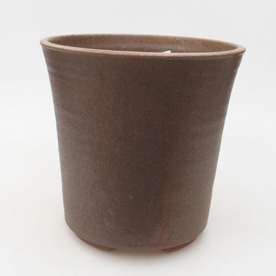 Keramische Bonsai-Schale 16 x 16 x 16 cm, Farbe braun - 3