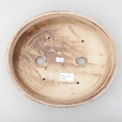 Keramische Bonsai-Schale 28 x 25 x 6 cm, Farbe braun - 3