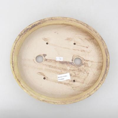 Keramische Bonsai-Schale 28 x 25 x 6 cm, Farbe braun-gelb - 3
