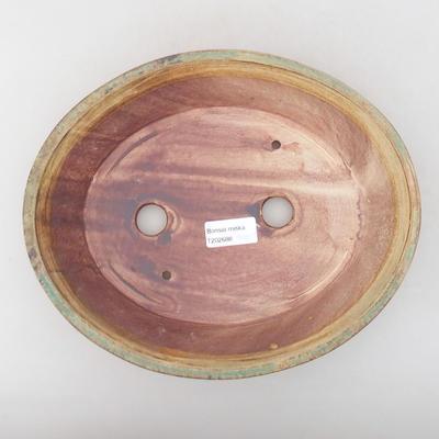 Keramische Bonsai-Schale 26,5 x 21,5 x 6 cm, Farbe grün - 3