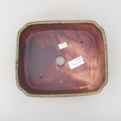 Keramische Bonsai-Schale 20 x 17 x 5,5 cm, Farbe grün - 3