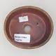 Keramische Bonsai-Schale 10,5 x 9 x 4,5 cm, braune Farbe - 3/3