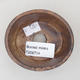Keramische Bonsai-Schale 7,5 x 6,5 x 3,5 cm, braune Farbe - 3/3