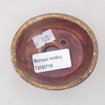Keramische Bonsai-Schale 7,5 x 6,5 x 3,5 cm, braune Farbe - 3