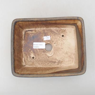 Keramische Bonsai-Schale 20,5 x 16,5 x 6,5 cm, braune Farbe - 3