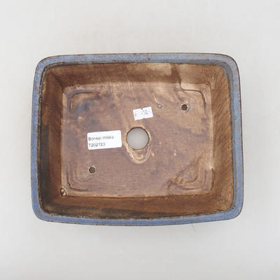 Keramische Bonsai-Schale 20,5 x 16,5 x 6,5 cm, Farbe blau - 3