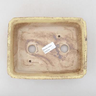 Keramische Bonsai-Schale 20,5 x 16,5 x 6,5 cm, gelbe Farbe - 3