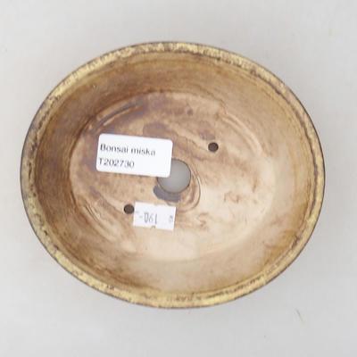 Keramische Bonsai-Schale 14 x 12 x 3,5 cm, Farbe gelb - 3