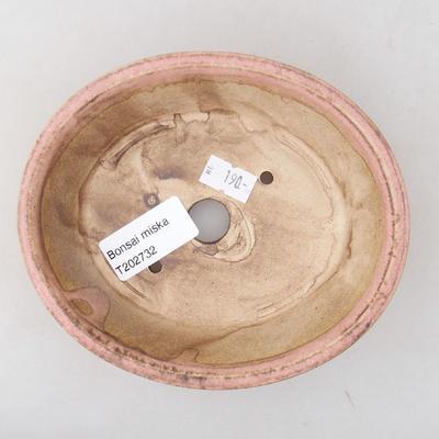 Keramik Bonsai Schüssel 14 x 12 x 3,5 cm, Farbe rosa - 3