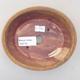 Keramische Bonsai-Schale 14 x 12 x 3,5 cm, Farbe braun - 3/3