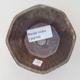 Keramische Bonsai-Schale 8,5 x 8,5 x 5,5 cm, braune Farbe - 3/3