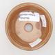 Keramische Bonsai-Schale 8 x 8 x 3 cm, Farbe braun-grün - 3/4