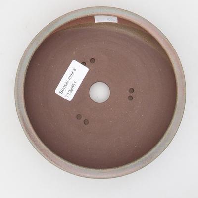 Keramik Bonsai Schüssel 15 x 15 x 4,5 cm, grün-rote Farbe - 3
