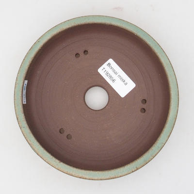 Keramik Bonsaischale 15 x 15 x 4 cm, braun-grüne Farbe - 3