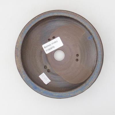 Keramik Bonsai Schüssel 15 x 15 x 4 cm, braun-blaue Farbe - 3