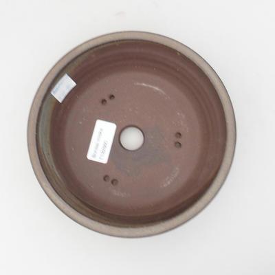 Keramik Bonsaischale 17,5 x 17,5 x 5 cm, Farbe grau - 3