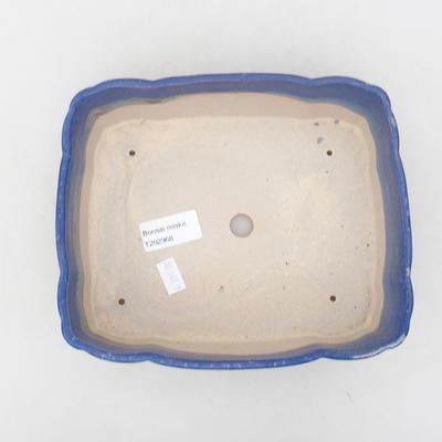 Keramische Bonsai-Schale 20 x 17 x 6,5 cm, Farbe blau - 3