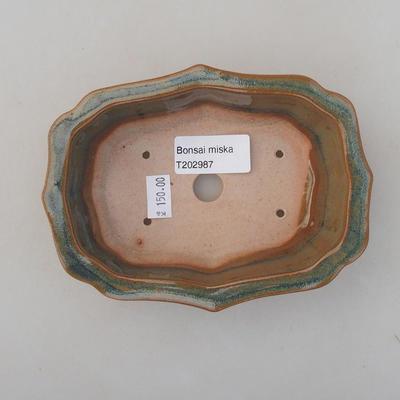 Keramische Bonsai-Schale 14 x 10 x 4,5 cm, braune Farbe - 3