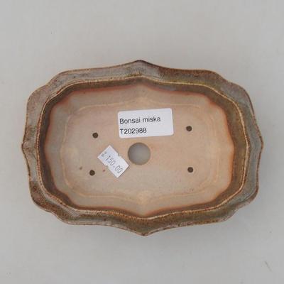 Keramische Bonsai-Schale 14 x 10 x 4,5 cm, Farbe grün - 3