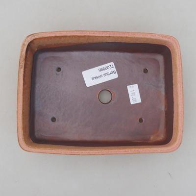 Keramik Bonsai Schüssel 17 x 13 x 5 cm, Farbe rosa - 3