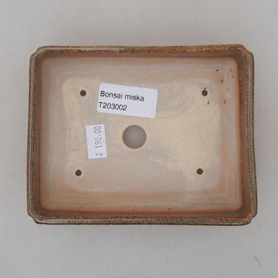 Keramik Bonsai Schüssel 13 x 10 x 4 cm, Farbe grün - 3