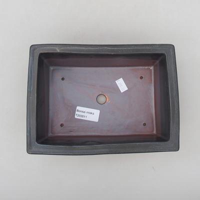 Keramische Bonsai-Schale 20,5 x 15 x 7 cm, Metallfarbe - 3