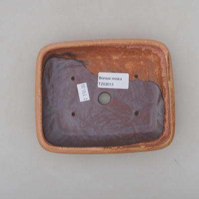 Keramik Bonsai Schüssel 16 x 13 x 3 cm, Farbe rosa - 3