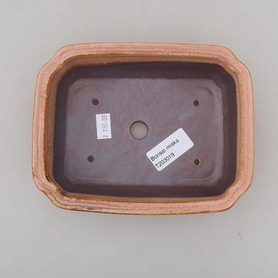 Keramische Bonsai-Schale 16,5 x 13 x 5 cm, Farbe rosa - 3