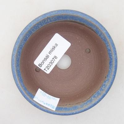 Keramische Bonsai-Schale 9 x 9 x 2,5 cm, Farbe blau - 3