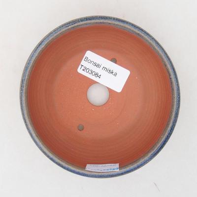 Keramische Bonsai-Schale 10 x 10 x 4,5 cm, Farbe blau - 3