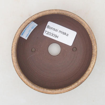 Keramische Bonsai-Schale 9 x 9 x 3,5 cm, beige Farbe - 3