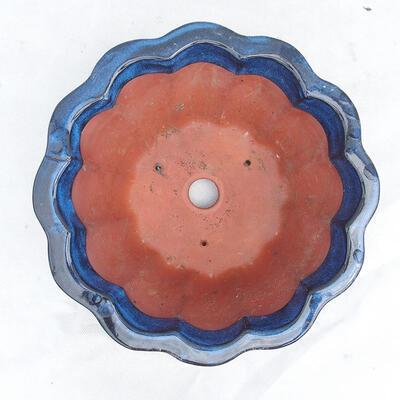 Bonsaischale 29 x 29 x 13 cm, Farbe blau - 3
