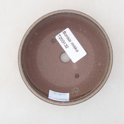 Keramische Bonsai-Schale 10 x 105 x 3 cm, Farbe braun - 3