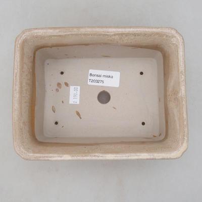 Bonsai-Keramikschale 18 x 14 x 7 cm, beige Farbe - 3