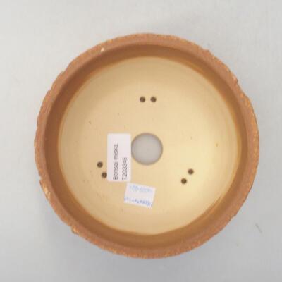 Keramik Bonsai Schüssel 14 x 14 x 8,5 cm, Farbe rissig - 3
