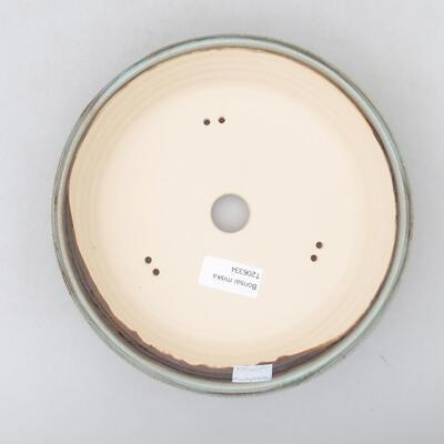Keramische Bonsai-Schale 20,5 x 20,5 x 5,5 cm, Farbe grün - 3