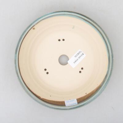 Keramische Bonsai-Schale 18,5 x 18,5 x 5 cm, Farbe grün - 3
