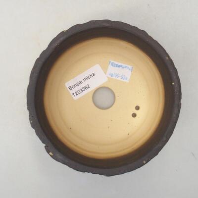 Keramik Bonsai Schüssel 12 x 12 x 8 cm, rissige Farbe - 3