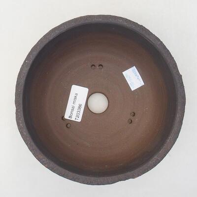 Keramische Bonsai-Schale 15 x 15 x 8,5 cm, Farbe rissig - 3