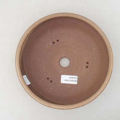 Keramische Bonsai-Schale 20 x 20 x 5,5 cm, braune Farbe - 3
