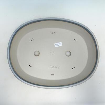 Bonsai-Schale 41,5 x 32,5 x 11 cm, grau-beige Farbe - 3