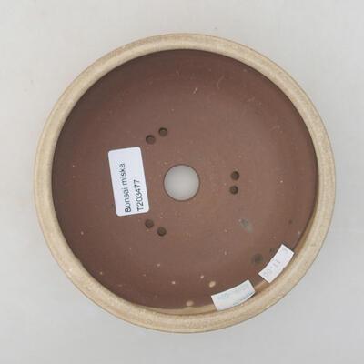 Keramik Bonsai Schüssel 15 x 15 x 5,5 cm, beige Farbe - 3