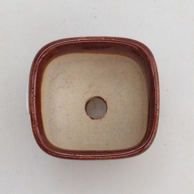 Mini Bonsai Schale 2,5 x 2,5 x 2 cm, Farbe braun - 3