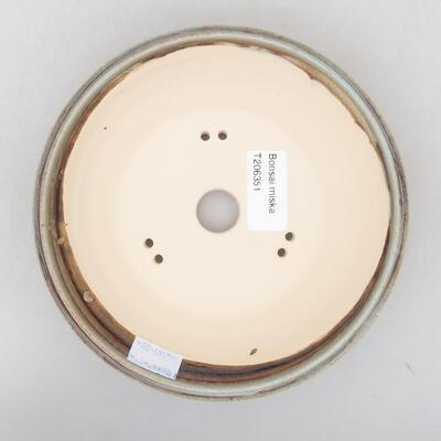 Keramische Bonsai-Schale 16 x 16 x 4,5 cm, Farbe grün - 3