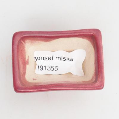 Mini-Bonsaischale 5,5 x 4 x 3 cm, Farbe rot - 3