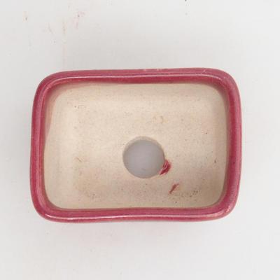Mini-Bonsaischale 4,5 x 3 x 2 cm, Farbe rot - 3