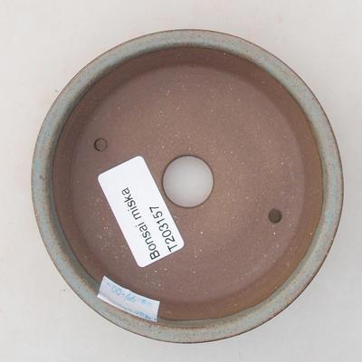 Keramische Bonsai-Schale 10 x 10 x 3 cm, graue Farbe - 3