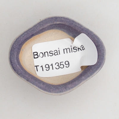 Mini-Bonsaischale 4,5 x 4 x 2 cm, Farbe violett - 3